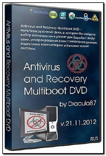Скачать: Antivirus and Recovery Multiboot DVD by Dracula87